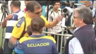 getlinkyoutube.com-Presidente de Ecuador, Rafael Correa, alentó a su hija Sofía en los Juegos Boliviarianos