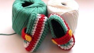 getlinkyoutube.com-How to Crochet Toffee Apple Baby Booties - Crochet Baby Booties