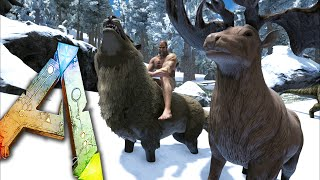 getlinkyoutube.com-Ark Survival Evolved Ep21 - TAKE SHELTER! - DireWolf, Megaloceros Taming! Snow Biome Storms!