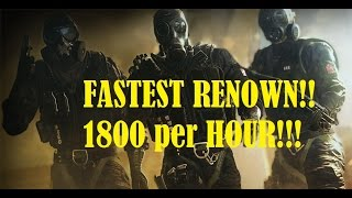 getlinkyoutube.com-FAST Renown! Easy!! Rainbow 6 Seige