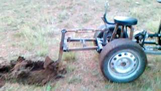 getlinkyoutube.com-Homemade Tractor Ploughing