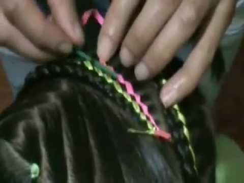 Colitas en oruga peinados para niña paso a paso