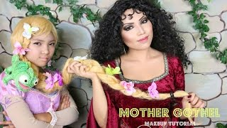 getlinkyoutube.com-TANGLED Mother Gothel Makeup Tutorial