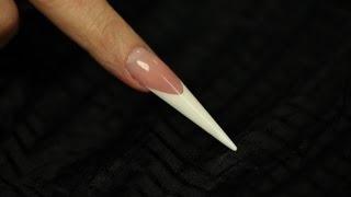 getlinkyoutube.com-Gel Stiletto nail shape- Step by Step video
