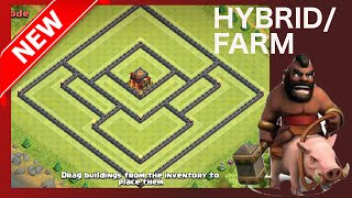getlinkyoutube.com-Th10 Farm Base (Post-Update - No-Th Sniping/Larger Map) Hybrid Base | Clash Of Clans