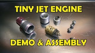 getlinkyoutube.com-Tiny Jet Engine: Demo (Internal & External parts) & Assembly