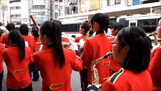 京都さくらパレード2013年 河原町通でのマーチングバンド