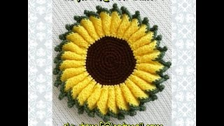 getlinkyoutube.com-Girasol a crochet tutorial
