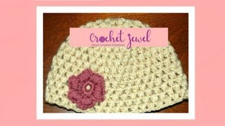 getlinkyoutube.com-Crochet Puff Stitch Hat (12 Month old-3 year old & 3-10 year old) Part I