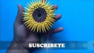 getlinkyoutube.com-Origami 3D Girasol