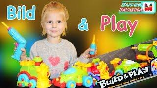 getlinkyoutube.com-✿Конструктор с шуруповертом ► Машинка Гонка Ф1 и Паровозик ❤ Build & Play Keenway  игрушка Cars Toy