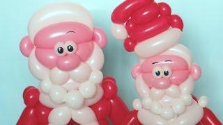 getlinkyoutube.com-Дед Мороз из шаров - голова / Santa Claus head (Subtitles)