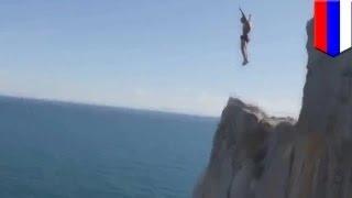 getlinkyoutube.com-روسي يقفز من على ارتفاع 50 متر إلى الماء ويلقى حتفه