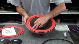 getlinkyoutube.com-Speaker Repair and Replacement of Foam Surrounds on Cerwin Vega and Others