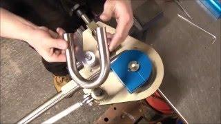 "getlinkyoutube.com-Bending 1""  x 16 swg erw stainless steel tube - Useful Tools Mandrel Tube Bender Mk 5"