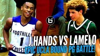 getlinkyoutube.com-LaMelo Ball vs Jaylen Hands! Battle of Future UCLA Point Guards at The Battlezone!