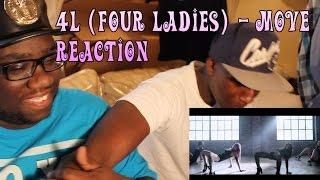 Black People React to Kpop: 포엘 (Four Ladies 4L) - Move (무브) MV Reaction