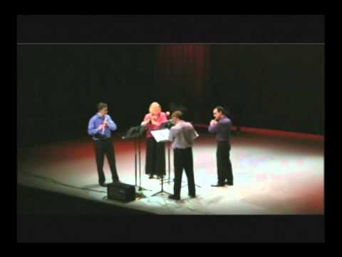 William Susman: Seven Scenes for Four Flutes - amplified flute quartet