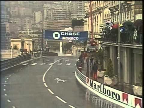 HD Last laps of the amazing Monaco Grand Prix 1984, LIVE BBC COMMENTARY