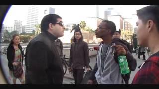 Douchebag guy harassing skaters in LA