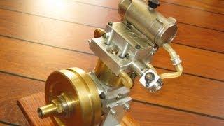 getlinkyoutube.com-Homemade DOHC engine, low rpm, nitro 4 stroke motor
