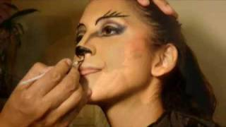 getlinkyoutube.com-Maquillaje de gata sexy. Sexy cat make up.
