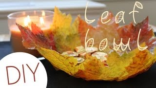 getlinkyoutube.com-DIY Leaf Bowl (Fall Home Decor)