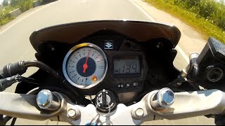 getlinkyoutube.com-Suzuki Raider 150 TOPSPEED all stock