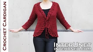 getlinkyoutube.com-Crochet triple stitch cardigan jacket. Part 1 of 2