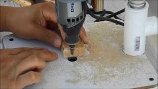getlinkyoutube.com-PVC Dremel drill press