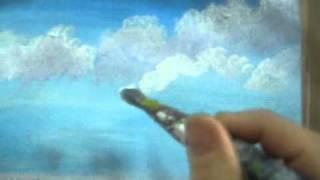 getlinkyoutube.com-How To Paint Clouds with Acrylics