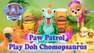 PAW PATROL Nickelodeon PAw Patrol Play Doh Chomposaurus Adventure a Paw Patrol Video Toy Parody