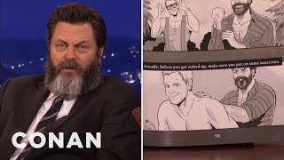 getlinkyoutube.com-Nick Offerman's Book Features A Homoerotic Chris Pratt Comic  - CONAN on TBS