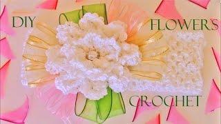 getlinkyoutube.com-DIY flores diademas y moños a crochet - beautiful flowers to crochet headbands and ribbons