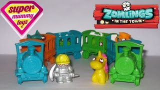 getlinkyoutube.com-Zomlings Series 3 Trains Blind Bags - The Hunt For The Gold Train Part 3 - Zomlings Serie 3 Trenes