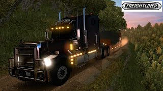 getlinkyoutube.com-American Truck Simulator | Caminos Extremos Off Road EUA | Freightliner Classic XL