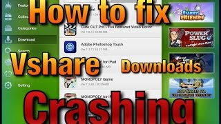How to fix Vshare downloads Crashing ( Date-Trick) not working!!!