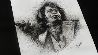 getlinkyoutube.com-Drawing James Brown Scribble Art