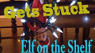 getlinkyoutube.com-Elf on the Shelf || Gets Stuck