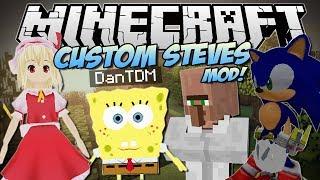 getlinkyoutube.com-Minecraft | CUSTOM STEVES MOD! (Become ANY 3D Game Character!) | Mod Showcase