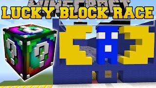 getlinkyoutube.com-Minecraft: PACMAN'S MAZE LUCKY BLOCK RACE - Lucky Block Mod - Modded Mini-Game