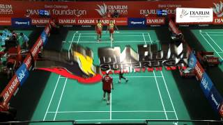 Mohammad Ahsan/Berry Angriawan (Djarum Kudus) VS Rian Agung/Tri Kusumawardhana (Suryanaga Surabaya)