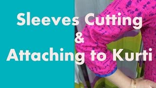 getlinkyoutube.com-Cutting sleeves perfectly and  attaching it to kurti