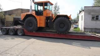 getlinkyoutube.com-Погрузка на трал трактора К-704-4Р «СТАНИСЛАВ»