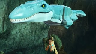 getlinkyoutube.com-LEGO: Dimensions -  Jurassic World - Mosasurus!!!! (Gameplay)