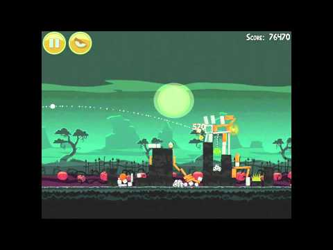 Angry Birds Seasons Ham'o'ween 2-7 Halloween 2012 Hamoween Walkthrough 3 Star