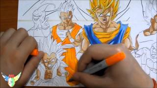getlinkyoutube.com-Copic speed draw Dragon Ball ドラゴンボール (wallpaper)