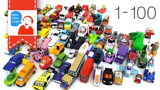 getlinkyoutube.com-learn to count numbers 1 to 100 for kids with street vehicles tomica