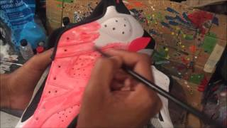 "custom jordan 6 tutorial  ""super infrared"" or ""Infrared overkill"""