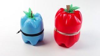 getlinkyoutube.com-Come fare astucci a forma di frutta con bottiglie di plastica